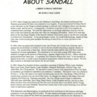 A Brief History of SANDALL
